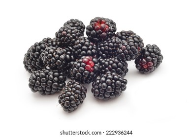 natural bio blackberries on white