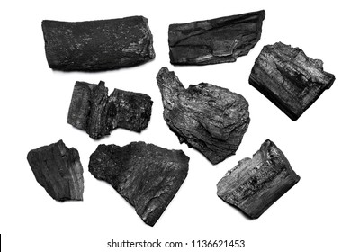 Natural black charcoal from old tree. High wood energy coal for warm in the winter or for household.