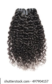 natural black deep wave curly remy human hair bundles extensions for wigs