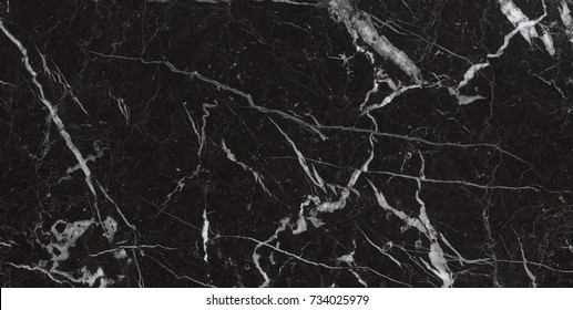natural black marble with white details
