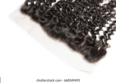 Natural black  virgin body wave human hair extensions wide range lace frontal closure