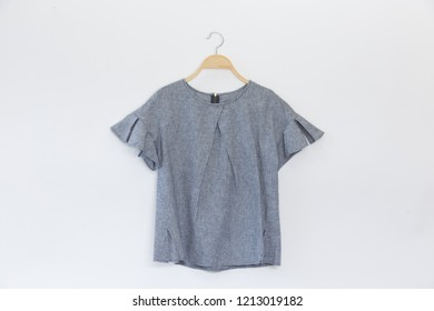 Natural blouse on white background.minimal style