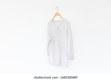Natural blouse on white background.minimal style.