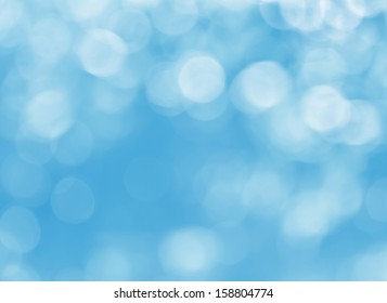 Natural blue blur abstract background with selective focus