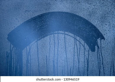 Natural blue water drop background