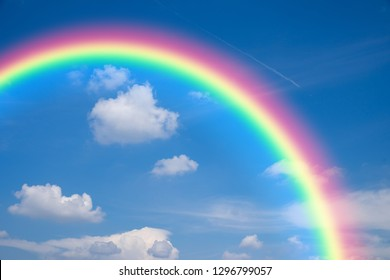 Natural bluse sky and rainbow