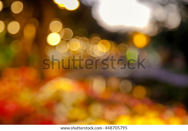 Natural Bokeh blurred background abstract