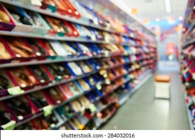 Natural bokeh shopping mall Shoe Store