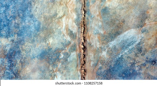 Natural border, abstract photography of the deserts of Africa from the air, bird's eye view, abstract expressionism, contemporary art,