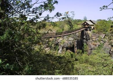 Natural bridge in Kenya
