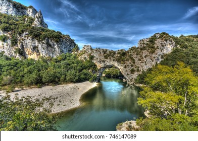 a natural bridge over a river in france