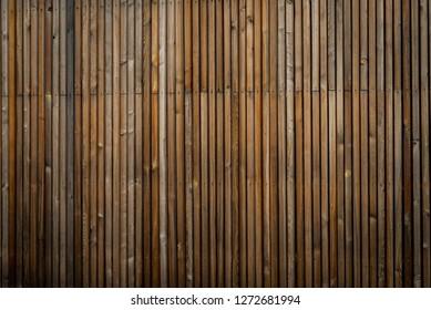 natural brown wood lath line arrange pattern background - wooden texture