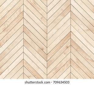 Natural brown wooden parquet herringbone. Wood texture.