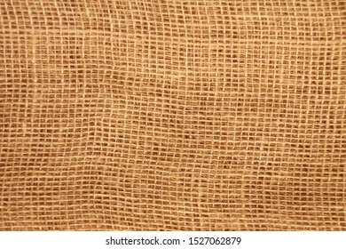 natural canvas, burlap with large weave, background and texture, close-up, copy space, isolate