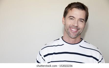 Natural casual man smiling