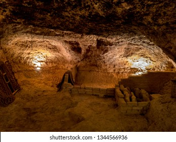 Natural caves in perfect state of conservation in the village of Hita, province of Guadalajara in Spain.