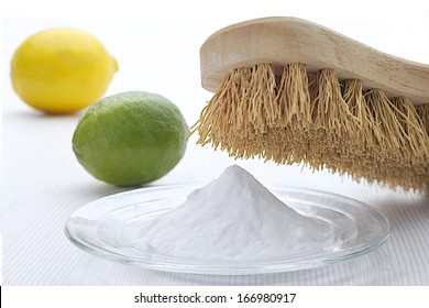 Natural cleaning tools and sodium bicarbonate for house keeping- Health protection