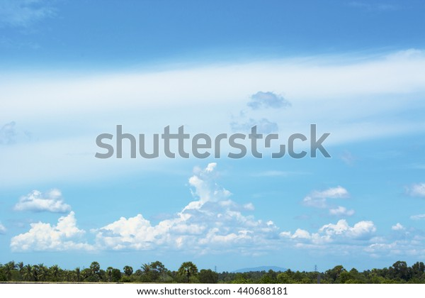 Natural cloud of clouds that God created