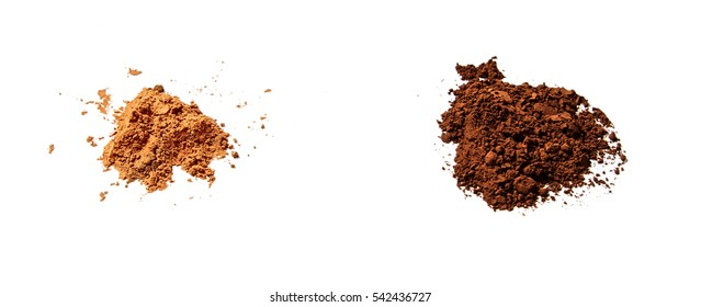 Natural Cocoa (left) and Dutched Cocoa have different colors and taste differently.
