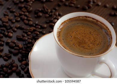 natural coffee with beans