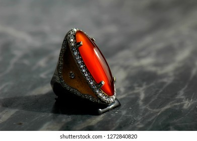 Natural Color orangis brown chalcedony.
