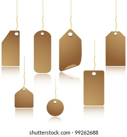 Natural colored blank paper price tag.