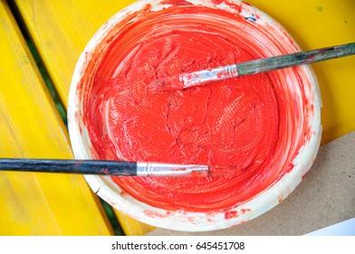 Natural colors prepared for kids' drawings