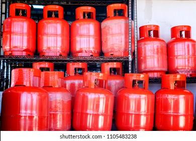 Natural compressed gas in bottles, distribution