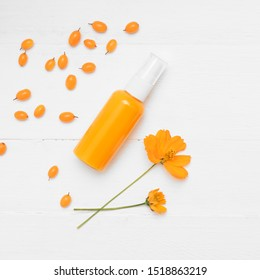 Natural cosmetic product with sea buckthorn.