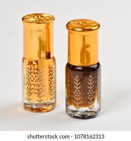 Natural cosmetics. Arabic perfume Attar.