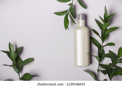 Natural Cosmetics concept. Organic product and wild herbs.