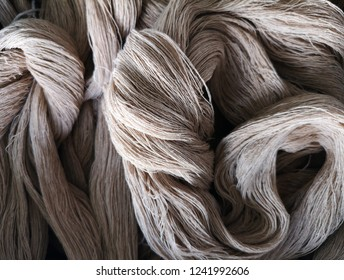 Natural cotton rope closeup