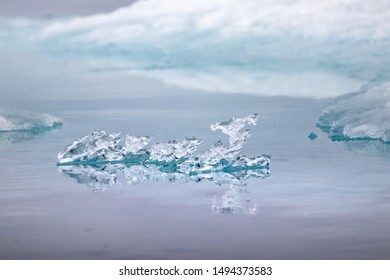 Natural crystal ice shapes on Peel Sound, a waterway situated in Pince of Wales island at the Northwest Passage in Canada
