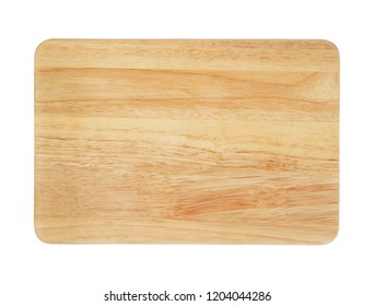 Natural cutting board. Wooden chopping board isolated on white