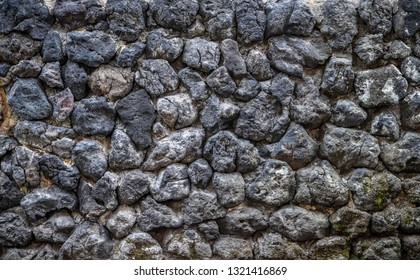 natural dark grey stone wall texture background