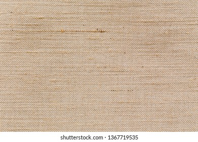 natural fabric linen brown sack pattern canvas or background. sackcloth textured. Textile seamless cream Japanese backdrop design.