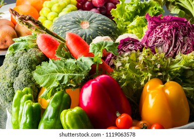 Natural food vegetables are rich in nutrition