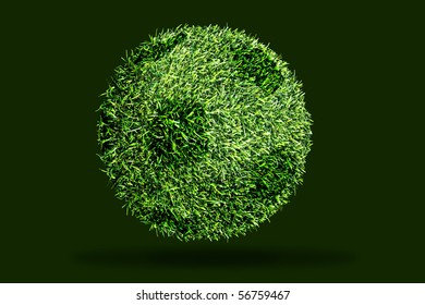 natural football on dark background