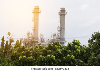 Natural Gas Combined Cycle Power plant electricity generating station of industry.