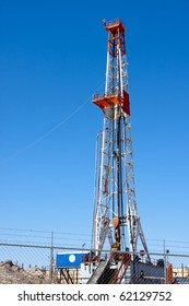 Natural gas drilling well in Texas