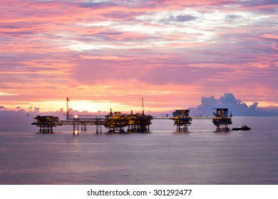 Natural gas field in the Gulf of Thailand