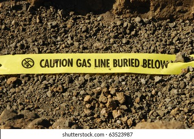 Natural Gas lines in a utilities trench at a commercial development building site in Roseburg Oregon