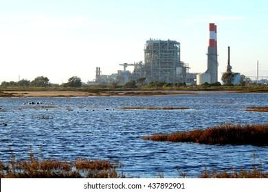 Natural gas power station near Oxnard California.