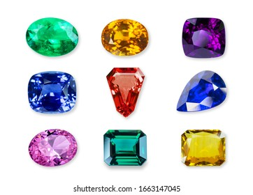 Natural gemstone isolated on a white background