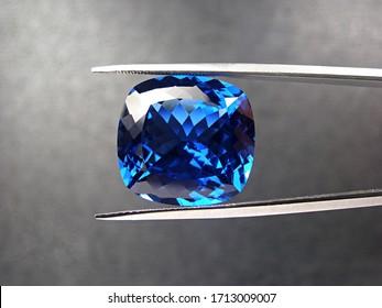 natural genuine blue sapphire oval cutting shape gemstone for design fashion jewellery.