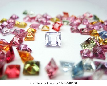 lot of natural genuine mined fancy color sapphire square princess cutting shape gemstone for design fashion jewellery.