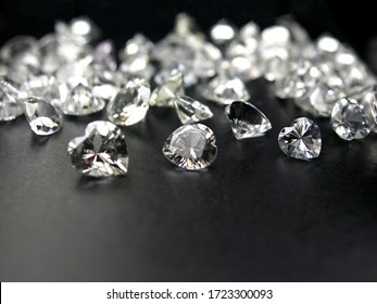 lot of natural genuine mined white diamonds heart shape cutting for gems jewellery fashion setting.