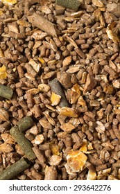 natural grain sportive  muesli background. for horse.