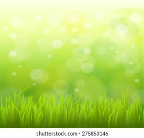 natural green background with selective focus. Illustration