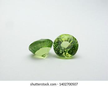 natural green peridot round shape cutting precious gemstone for fashion jewellery